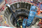 The shaft leading to Farringdon Station, at the end of the multibillion-dollar Crossrail underground project. Photo/ AP