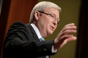 Kevin Rudd is out to bolster his status on international affairs. Photo / AP
