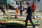Mini golf in Christchurch on the course managed by Gap Filler.