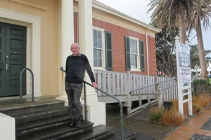 South Taranaki District Council Patea Community Board member Ian Ward on the steps of the Hunter Shaw building.PICTURE/LIN FERGUSON 270813WCLF - 0760.
