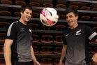 Daniel ball, left, and Mitch Webber are in the Futsal Whites squad. Photo / Duncan Brown