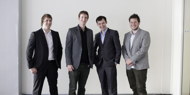 LearnKo team members (left to right) Dirk Verboom, David Cameron, Mark Cameron and Matthew Harris.