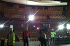 Media were given a tour of the quake-damaged Christchurch Town Hall today. Photo / Kurt Bayer