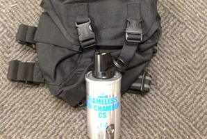 Dunedin police have lost a bag, the same as this, containing a tear-gas canister and cartridges