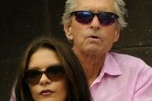 Michael Douglas and his wife actress and Catherine Zeta-Jones.