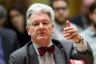 United Future leader Peter Dunne during his appearance before the privileges committee select committee hearing at Parliament. Photo / Mark Mitchell