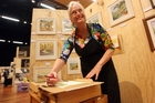 DELICATE WORK: Anthea Crozier of Masterton demonstrates water colour painting and her works. WTA060913LFART07