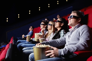Nothing beats the thrill of watching a movie on the big screen, but the industry is under threat from piracy. Photo / Getty Images