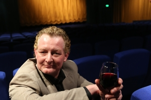 Cameron Rhodes loves to be in the cinema enjoying a glass of wine. Photo / Chris  Loufte