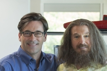 Jon Hamm and Larry David in Clear History.
