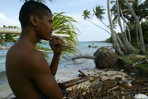 Sea levels on the Marshall Islands have risen 7mm a year since 1993. The global average is 0.4mm. Photo / AP