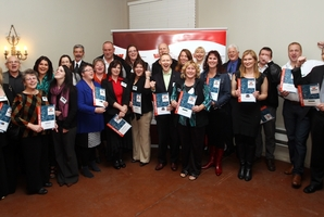 UP FOR IT: The finalists in the Westpac Hawke's Bay Chamber of Commerce Business Awards. PHOTO/PAUL TAYLOR HBT132752-01