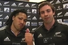 The All Blacks have sent a message of support and 'good luck' to the Team NZ sailors on the eve of the America's Cup finals series. While captain McCaw and coach Hansen are more traditional.. the expert sailing tips from the All Black mid-field duo are more technical.