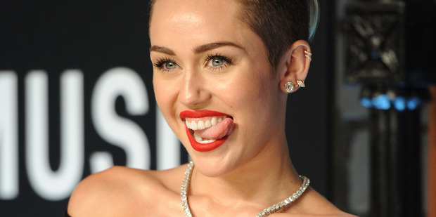 Miley Cyrus says her MTV performance was 'all me'.  Photo / AP