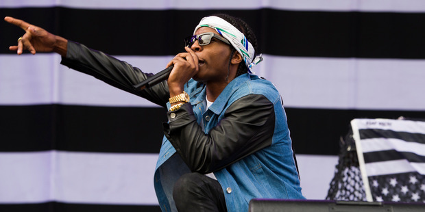 A$AP Rocky faces an allegation of assault after allegedly slapping a fan. Photo / AP