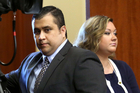 George Zimmerman and his wife Shellie during his high-profile court case. Photo / AP