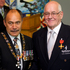 The Govenor-General, Lt Gen The Rt Hon Sir Jerry Mateparae (L) presents Ross Bragg an ONZM for services to swimming at an investiture ceremony. Photo / NZ Herald