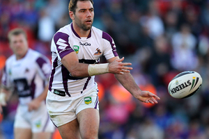 Cameron Smith's silence spoke volumes after NRL premiers Melbourne's crushing 28-8 loss to arch-rivals Manly. Photo / Getty Images.