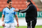 All Blacks coach Steve Hansen acknowledges Dan Carter is under pressure to perform on Saturday following a limited diet of test rugby. Photo / Getty Images.
