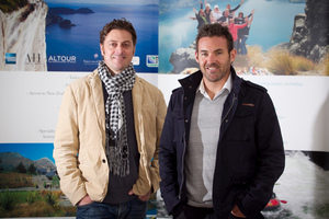 For Matt Lines (left) and Sam Porter, marketing means spending lots of time overseas. Photo / Natalie Slade