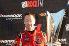 Greg Murphy on the podium at the V8 SuperTourers round in Taupo last weekend. Photo / Geoff Ridder