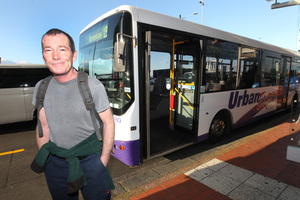 Commuter Joseph Shields' monthly fare has almost doubled. Photo / Chris Gorman