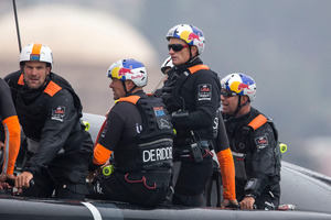 Famously intense and driven, it's said Sir Russell Coutts recognised a kindred spirit when he handed the wheel over to James Spithill (centre).