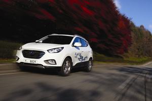 Hyundai ix45 hydrogen fuel cell SUV. Photo / Supplied