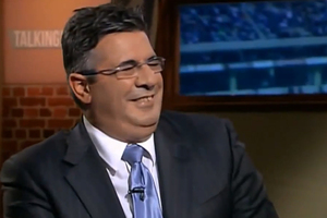 AFL boss Andrew Demetriou initially laughed at the idea of a dwarf set on fire.
