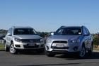 Mitsubishi ASX and VW Tiguan Photo / David Linklater