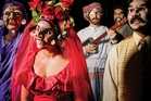 Julia Croft, Nisha Madhan, David Ward, James Roque, Jacob Rajan present Kiss the Fish by Indian Ink Company. Photo / John McDermott