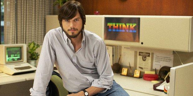 Ashton Kutcher as Steve Jobs in the movie Jobs.