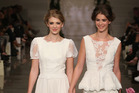 Auckland designer Sera Lilly said sending two female models down the bridal show runway together was a celebration of New Zealand legalising same-sex weddings. Photo / Getty Images