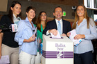Tony Abbott casts his vote with his Kiwi wife Margie and their daughters Bridget, Frances and Louise. Photo / Getty Images