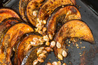 Roast Pumpkin with peanut dressing. Photo / Michael Craig