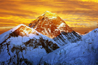 Evening colored view of Everest from Kala Patthar. Photo / Getty Images