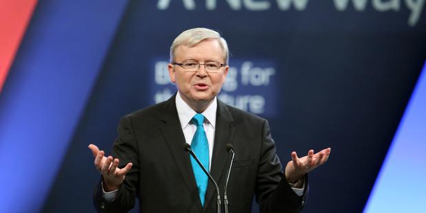 Australian Prime Minister Kevin Rudd. Photo / AP