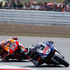 Jorge Lorenzo of Spain, right, leads countryman Marc Marquez during the MotoGP race of the British Grand Prix at the Silverstone circuit in Silverstone, England. Photo / AP