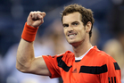 Andy Murray, of Britain, pumps his fist after defeating Denis Istomin, of Uzbekistan, during the fourth round of the U.S. Open tennis tournament. Photo / AP