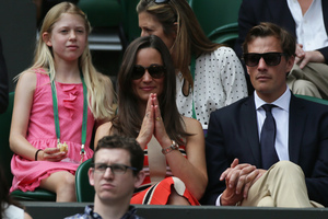 Pippa Middleton and her boyfriend, Nico Jackson. There are rumours the couple are engaged.Photo / AP