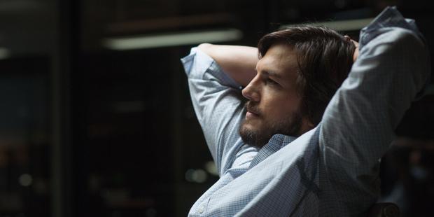 Ashton Kutcher as Steve Jobs in a scene from 'Jobs'. Photo / AP