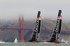 The America's Cup international jury today docked Oracle Team USA two points in the America's Cup match race against Emirates Team New Zealand. Photo / AP