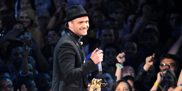Justin Timberlake said he would like to play The Riddler. Photo / AP