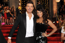 Robin Thicke and and his wife Paula Patton.Photo / AP