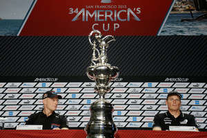 The America's Cup futures of Oracle's James Spithill (left) and Team NZ's Dean Barker are uncertain. Photo / Getty Images