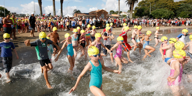 St Heliers' spectacular beachfront makes it a popular spot for triathletes and swimmers. Photo / NZ Herald