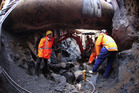The site of the recent trench explosion. Photo / NZ Herald