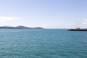 View from the end of Queens Wharf looking out over the Waitemata Harbour. Photo /  Richard Robinson