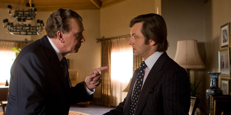 A scene from 'Frost/Nixon' with Frank Langella as Richard Nixon and Michael Sheen as David Frost. Photo / supplied