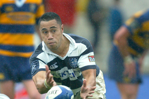 Auckland's encounter with Taranaki in New Plymouth tomorrow could feature a blast from the past, with Orene Ai'i named on the bench. Photo / Getty Images.